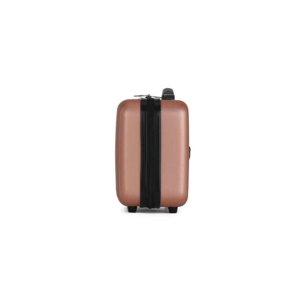 2d6d37c495226 Sada 2 ružových cestovných kufrov na kolieskach VERTIGO Valises Cabine & Vanity  Case ...