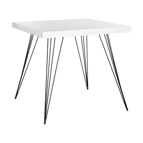 Jedálenský stôl Kayla, biely