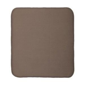 Hnedá podložka na umytý riad iDesign iDry, 18×16 cm