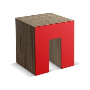 Kartónová taburetka Panca Red