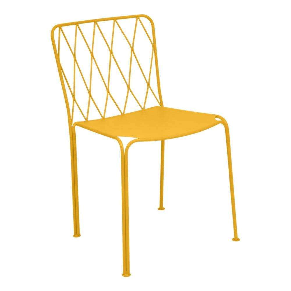 Žltá záhradná stolička Fermob Kintbury
