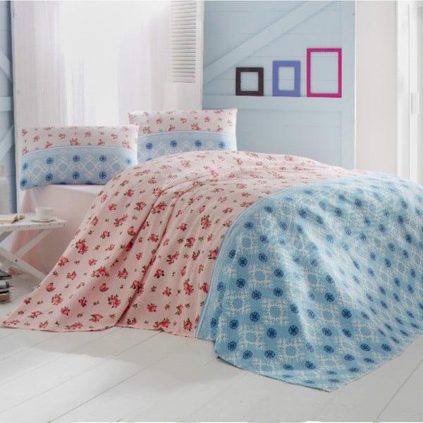 Ľahká prikrývka na posteľ Cemre Blue,200x235cm