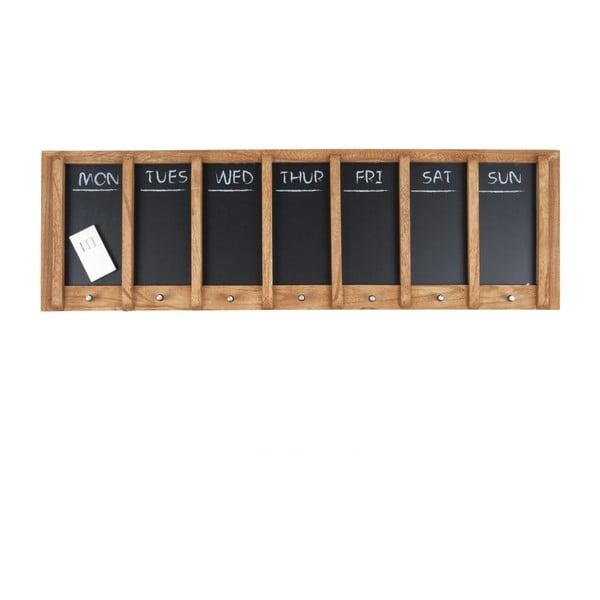 Nástenná tabuľa s týždenným plánovačom PT LIVING Wood, 80×25 cm