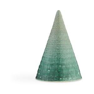 Tyrkysová kameninová dekoratívna soška Kähler Design Glazed Cone Aqua, výška 15 cm