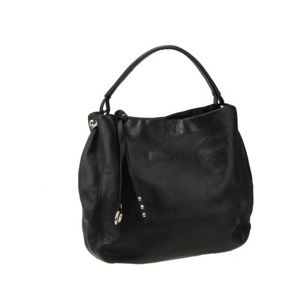 Kožená kabelka Agena, čierna