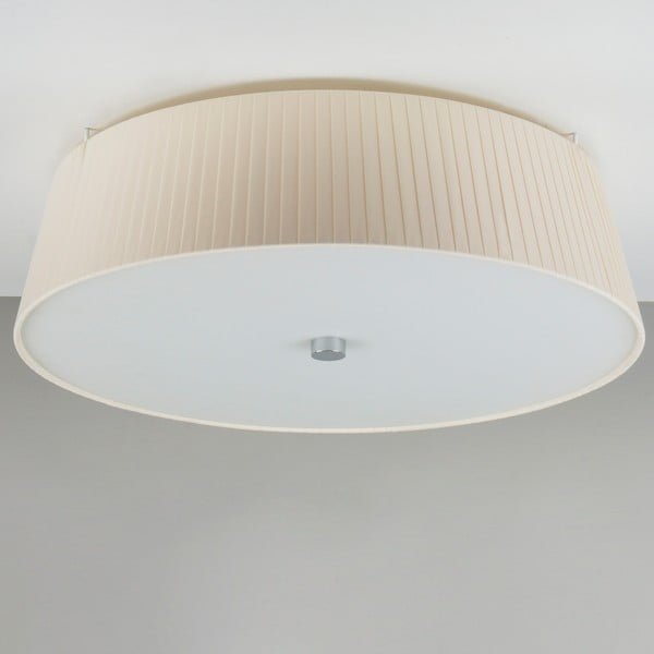 Krémové stropné svietidlo Bulb Attack Dos Plisado, ⌀45cm