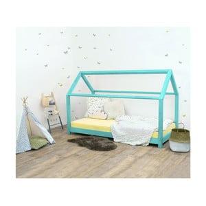 Tyrkysovomodrá detská posteľ zo smrekového dreva Benlemi Tery, 70×160 cm