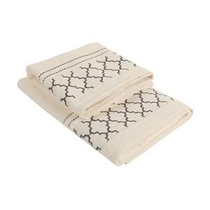 Set krémového uteráka a osušky Kalidrin