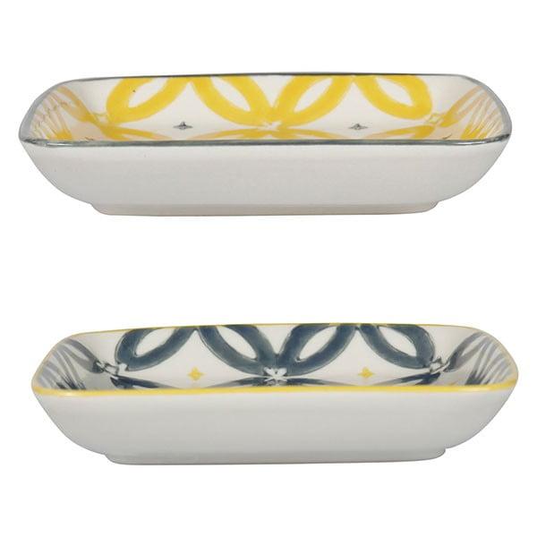 Sada 4 porcelánových tanierov Flower, 12.5 cm