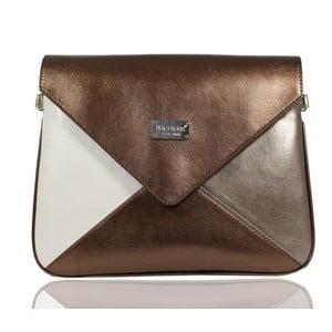 Hnedo-béžová kabelka Dara bags Envelope No.34