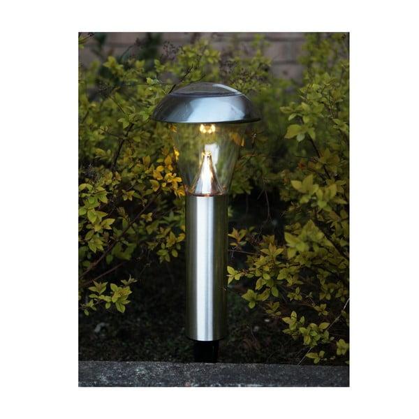 Záhradné LED svetlo v striebornej farbe Best Season Minimal