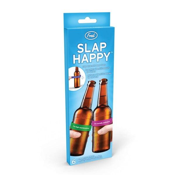 Sada 6 rozlišovačov na fľaše Fred & Friends Slap Happy