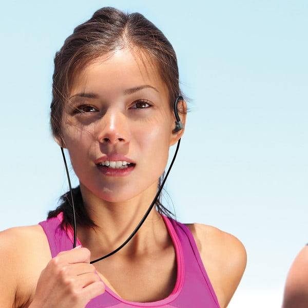 Športové slúchadlá CELLY s mikrofónom, čierne