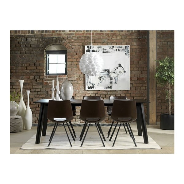 Čierny jedálenský stôl Canett Cokko, 200cm