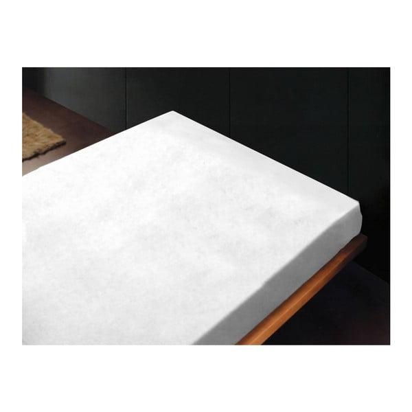 Neelastická posteľná plachta Liso Blanco, 240x260 cm