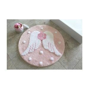 Kúpeľňová predožka Alessia Melek Pink, Ø90 cm