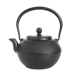 Čierna liatinová čajová kanvica Bambum Taşev Linden, 1,2 l