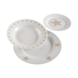 Stolovací servis White & Stars, 18 ks
