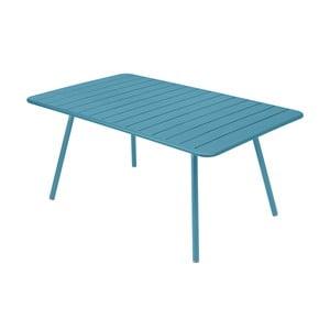 Tyrkysový kovový jedálenský stôl Fermob Luxembourg