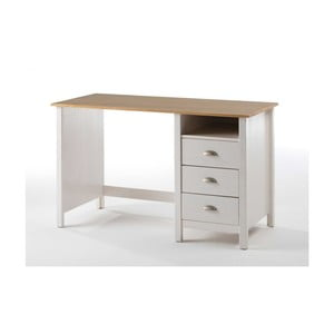 Biely písací stôl zborovicového dreva SOB Jayde