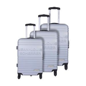 Sada 3 kufrov Jean Louis Scherrer Trolley Silver