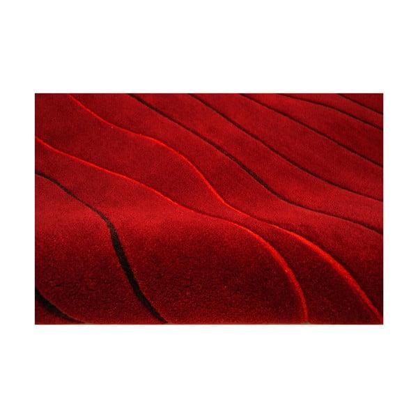 Ručne tkaný koberec Tufting, 120x180 cm, červený