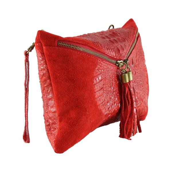 Kožená listová kabelka Wissa, červené