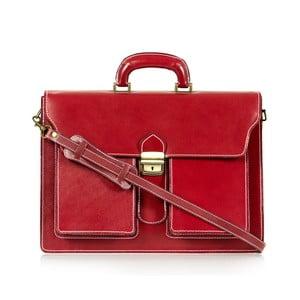 Červená kožená taška cez rameno Italia in Progress Caravaggio