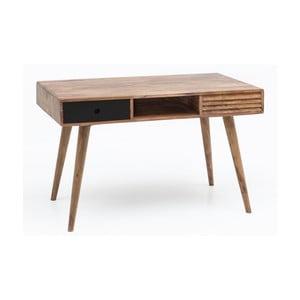 Pracovný stôl z masívneho sheeshamového dreva Skyport REPA