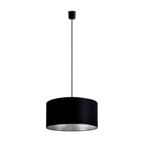 Čierno-strieborné závesné svietidlo Bulb Attack Tres, ⌀ 40 cm