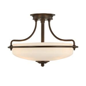 Stropné svietidlo v bronzovej farbe Elstead Lighting Griffin Tres Semi