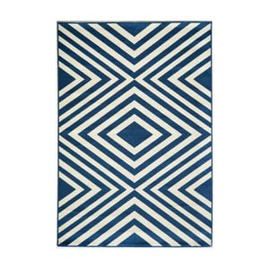 Modrý koberec Nourison Baja Tumbes, 290×201cm
