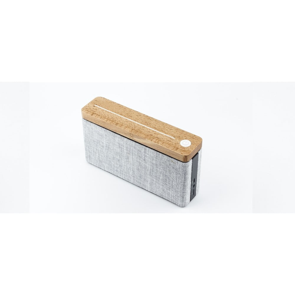 Hnedo-sivý drevený bluetooth reproduktor Gingko Hifi
