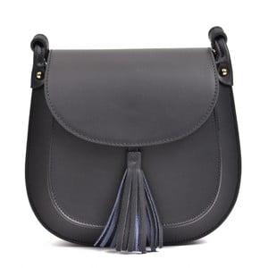 Čierna kožená kabelka Anna Luchini Tess