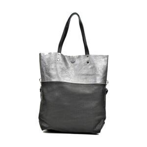 Čierna kožená kabelka Carla Ferreri Luferro