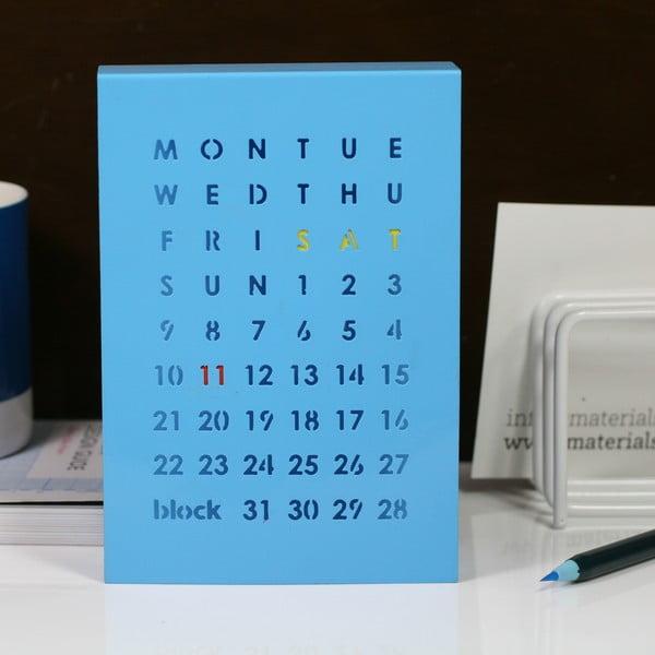 Magnetický kalendár na stôl Perpetual Calendar, modrý
