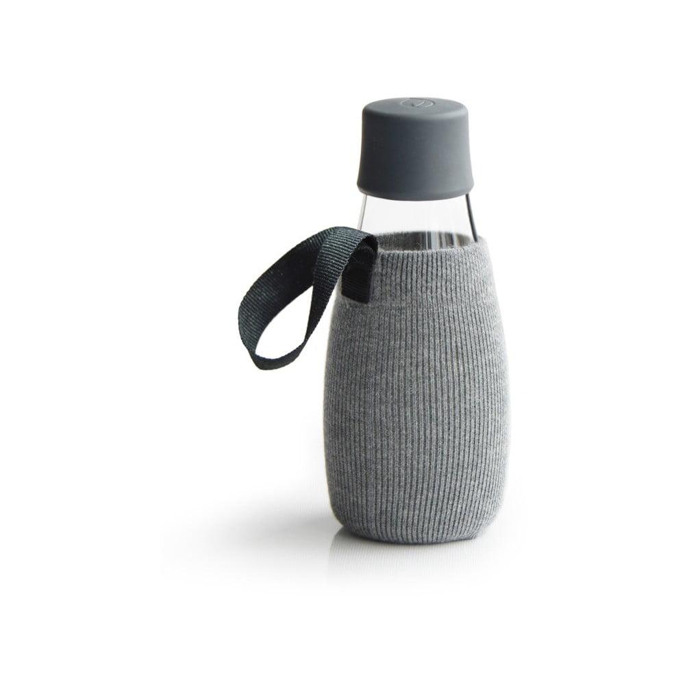 Sivý obal na sklenenú fľašu ReTap s doživotnou zárukou, 300 ml