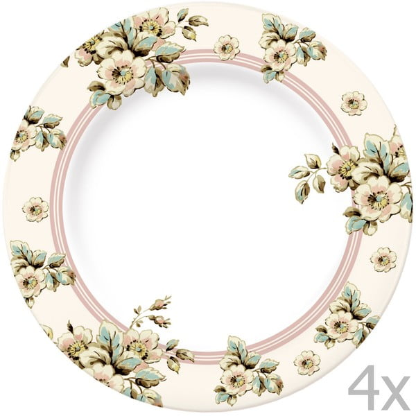 Sada 4 tanierov Katie Alice Cottage Flower, 27 cm