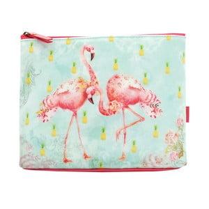 Taštička na zips Tropical Flamingos