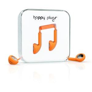 Slúchadlá Happy Plugs, oranžové