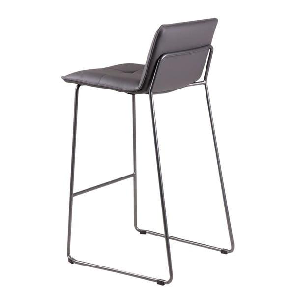 Sada 2 sivých barových stoličiek sømcasa Lou