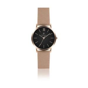 Dámske hodinky s remienkom z antikoro ocele vo farbe ružového zlata Paul McNeal Mea, ⌀3,6cm