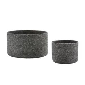 Sada 2 plstených košíkov Zone Dark Grey
