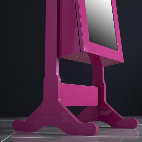 Uzamykateľné stojacie zrkadlo so šperkovnicou Angelita, fialové