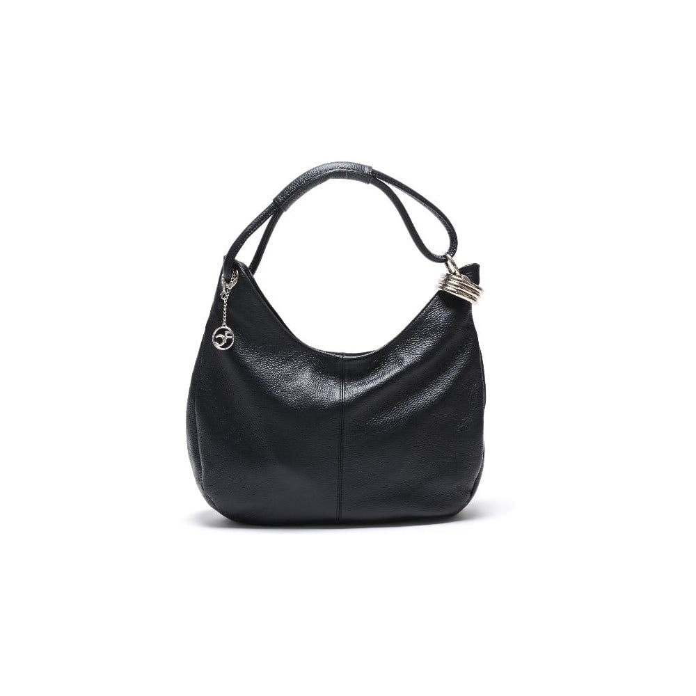 Čierna kožená kabelka Isabella Rhea no. 1022