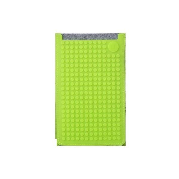 Univerzálny veľký obal na telefón PixelArt, grey/aqua green