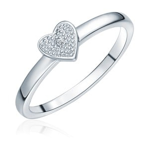 Strieborný prsteň s pravým diamantom Tess Diamonds Aline, veľ. 58 cm