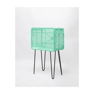 Mátovo-zelený odkladací stolík z recyklovaného plastu Really Nice Things Eco