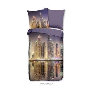 Obliečky na jednolôžko z mikroperkálu Muller Textiels Night City, 135×200 cm