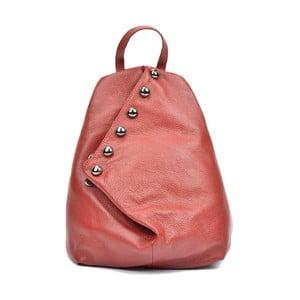 Ružový kožený batoh Luisa Vannino Simona